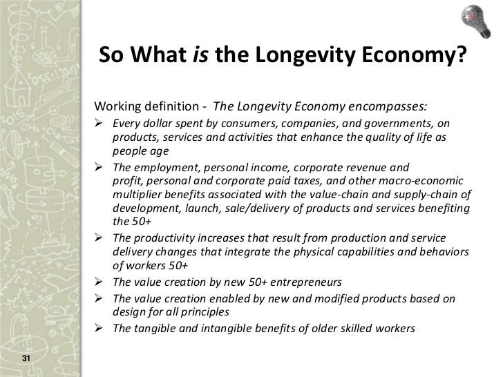 Contribute to the definition…     • What do we have right? What do we       have wrong? Weigh in:       – Twitter: #Longev...