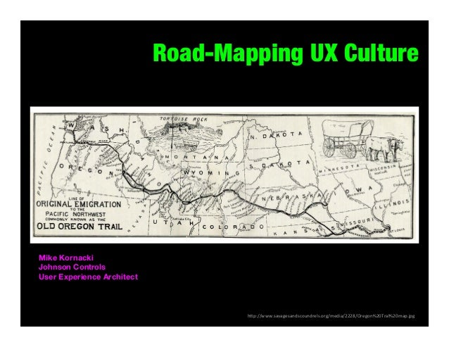 Road-Mapping UX Culture  Mike Kornacki Johnson Controls User Experience Architect  	   h#p://www.savagesandscoundrels.org/...