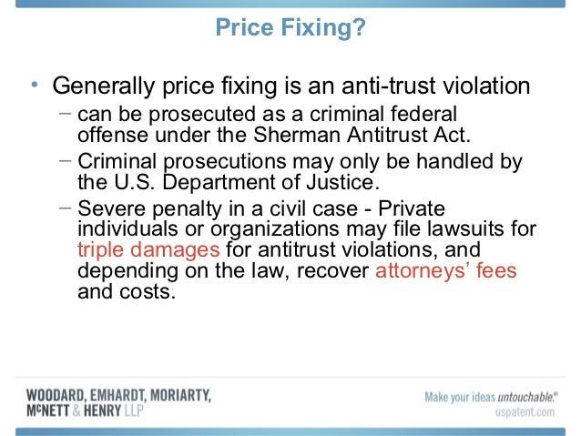 price fixing examples