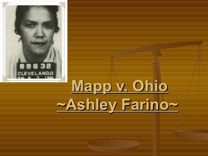 Mapp vs ohio cort case