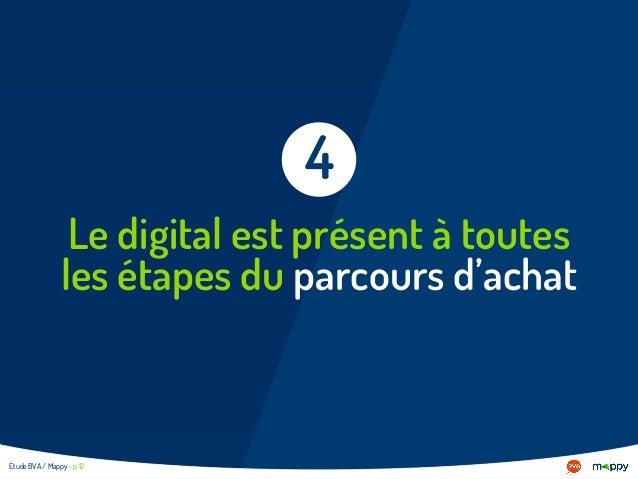 Le digital est présent à toutes les étapes du parcours d'achat 4 Étude BVA / Mappy - p 12