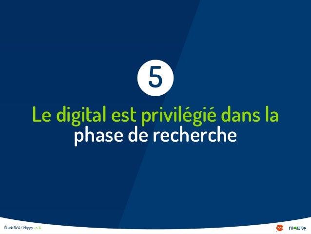 Le digital est privilégié dans la phase de recherche 5 Étude BVA / Mappy - p 14