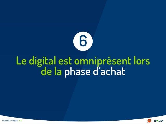 Le digital est omniprésent lors de la phase d'achat 6 Étude BVA / Mappy - p 19