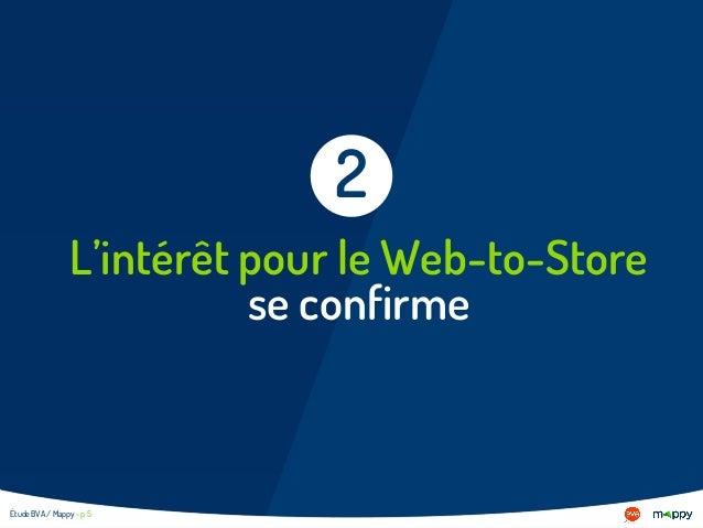 L'intérêt pour le Web-to-Store se confirme 2 Étude BVA / Mappy - p 5
