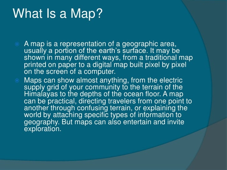 What Is Map Map reading