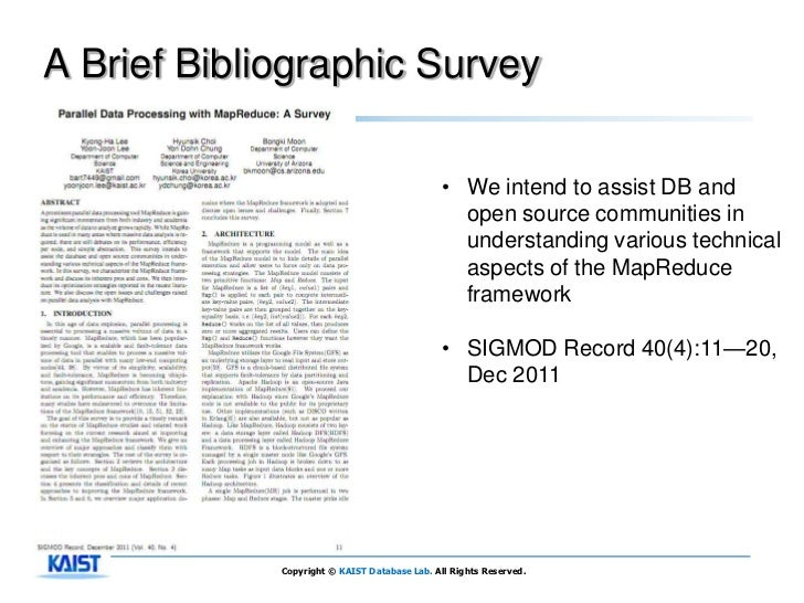 A Brief Bibliographic Survey                                               • We intend to assist DB and                   ...