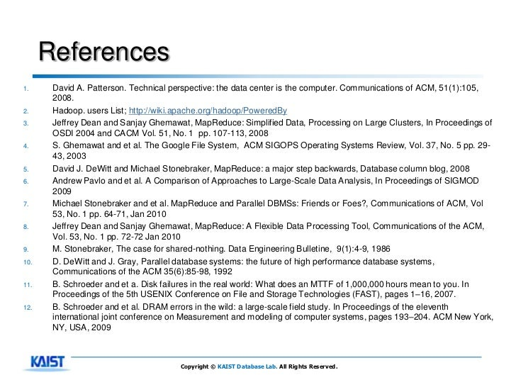 References1.     David A. Patterson. Technical perspective: the data center is the computer. Communications of ACM, 51(1):...
