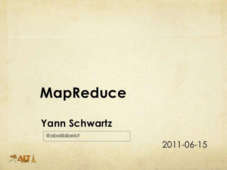 Présentation Map reduce altnetfr Slide 2