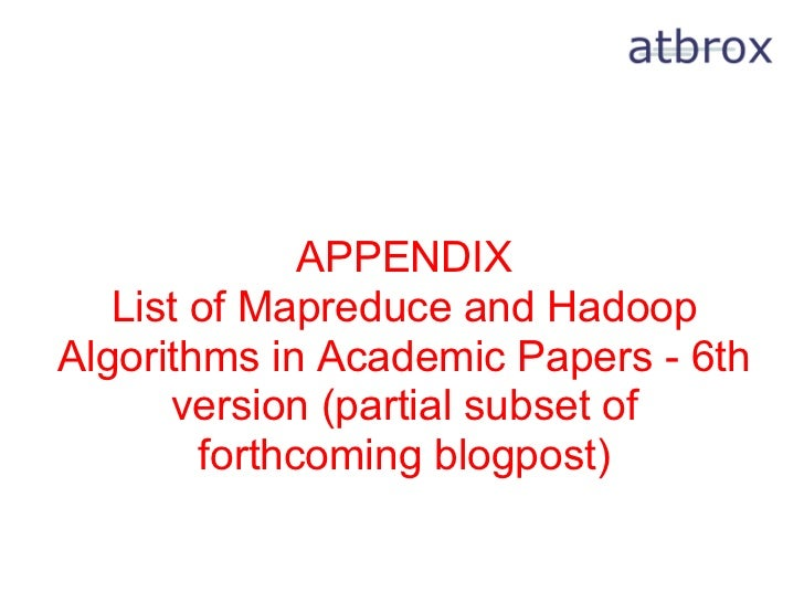 mapreduce paper Mapreduce is a programming model and an associated implementation for processing and generating large data sets as shown in the paper.