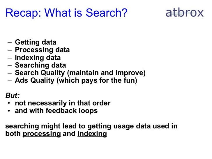 ... 12. Recap: What is Search?