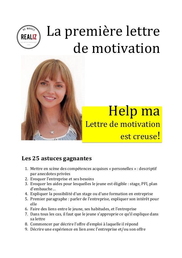 ma premi u00e8re lettre de motivation  mode d u0026 39 emploi