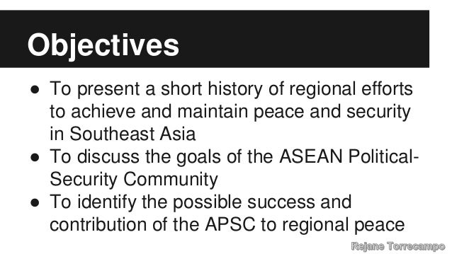 Indonesia and the Future of ASEAN Political Security Community