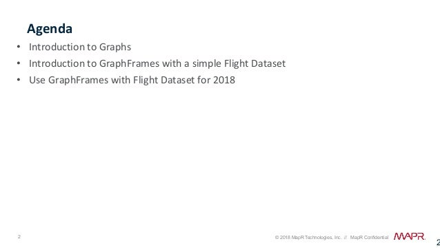 Analyzing Flight Delays with Apache Spark, DataFrames, GraphFrames, and MapR-DB Slide 2