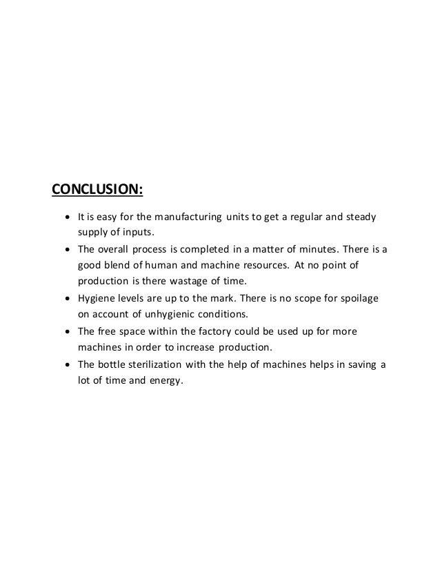 food processing industry project report pdf