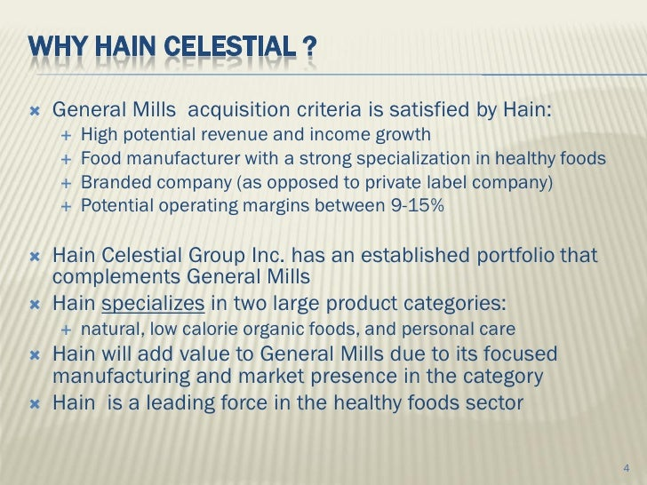 Ma Proposal General Mills And Hain Celestial