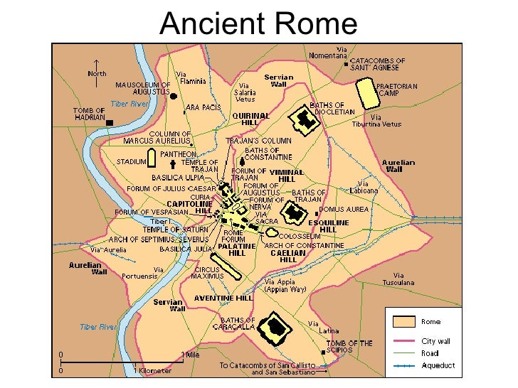 Maps Ancient And Medieval History - Ancient rome map tiber river
