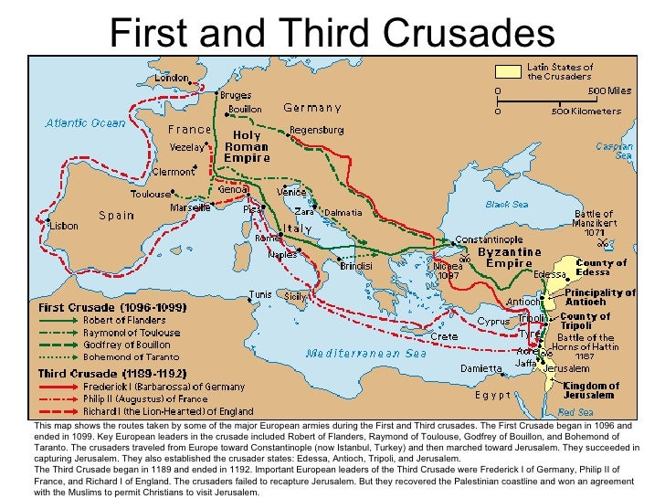 Maps ancient and medieval history empire of charlemagne 43 first and third crusades this map shows the gumiabroncs Choice Image