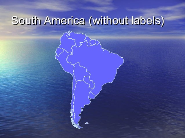 South America (without labels)