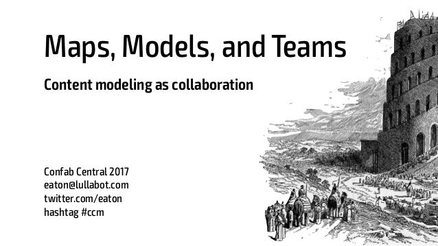 Maps, Models, and Teams Content modeling as collaboration Confab Central 2017 eaton@lullabot.com twitter.com/eaton hashtag...