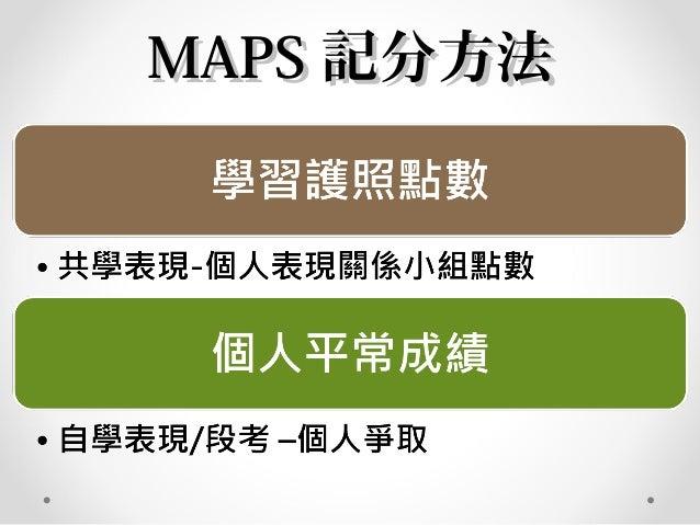 MAPSMAPS 提問設計提問設計 • 針對課前 讀設計閱 • 引導學生養成預習暖身題 • 針對文章結構設計 • 引導學生畫出 I see基礎題 • 針對文意情意設計 • 引導學生畫出 I feel/I think挑戰題