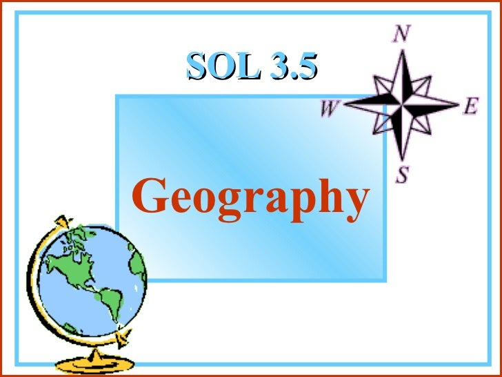 SOL 3.5 Geography