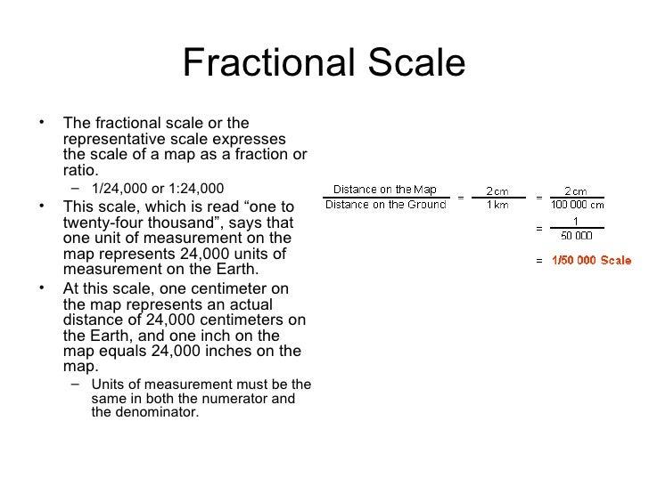Representative fraction map scale calculator