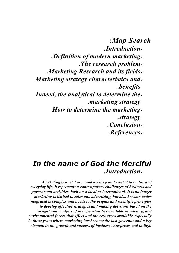 :Map Search                              .Introduction •          .Definition of modern marketing •                    .Th...