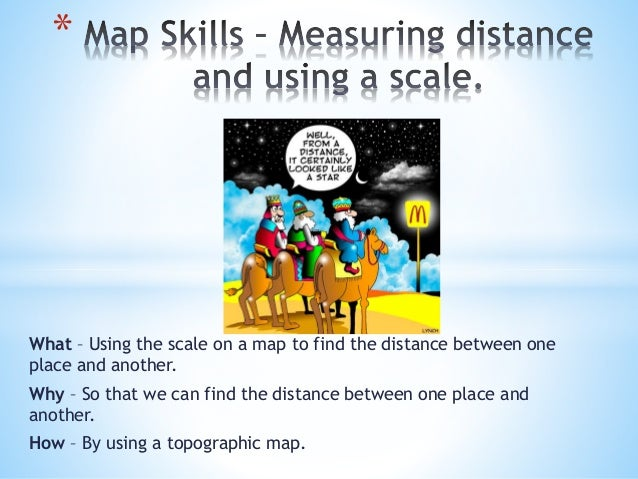 Map skills – measuring distance and using a on
