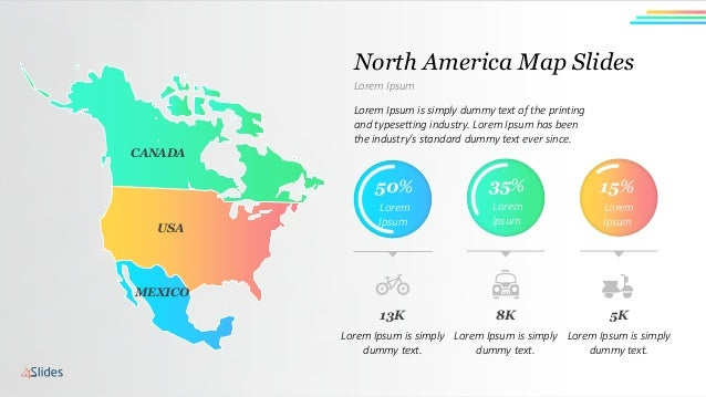 Free North America Map.Presentation Template Maps North America Free Download
