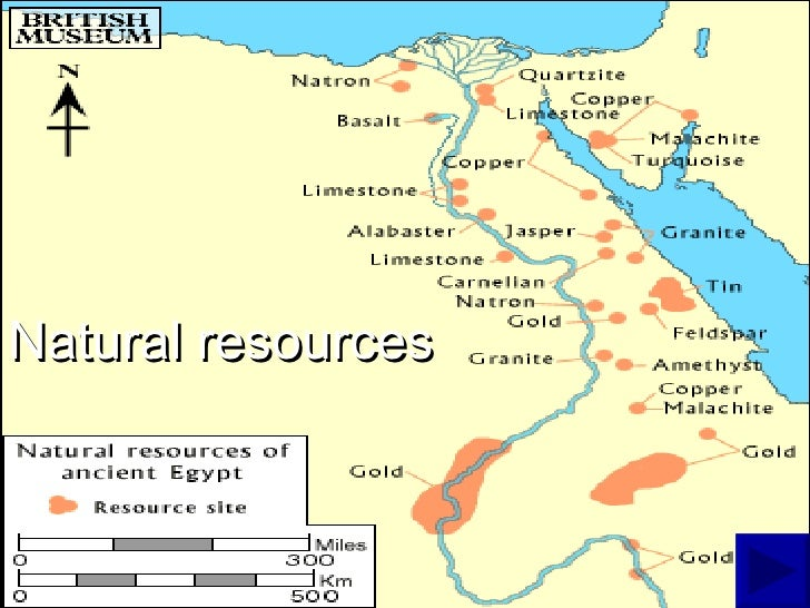 Maps Of Egypt - Map of egypt's natural resources