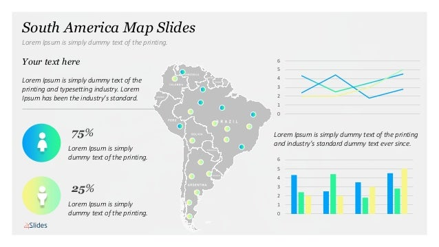 Map Of America Free Download.Presentation Template Maps South America Free Download