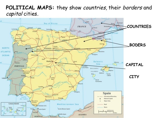 Map Of Spain And Surrounding Countries.Political Maps Spanish Institutions Traditions Languages Population