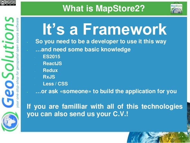 MapStore 2, modern mashups with OL3, Leaflet and React