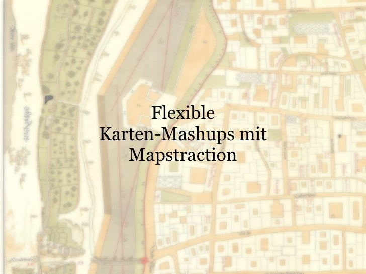 Flexible Karten-Mashups mit Mapstraction
