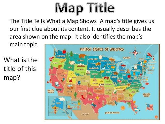 Map titles and symbols