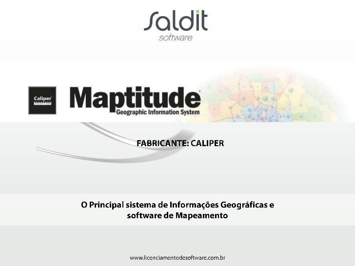 O Maptitude permite editação simultânea de dados geográficos