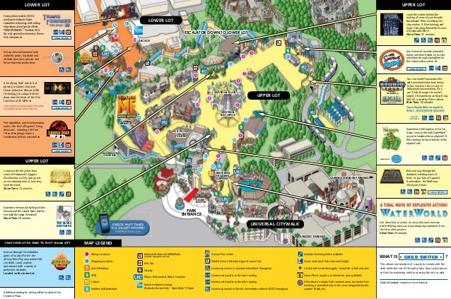 Park Map - Universal Studios Hollywood