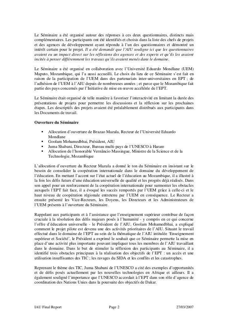 Maputo report fr Slide 2