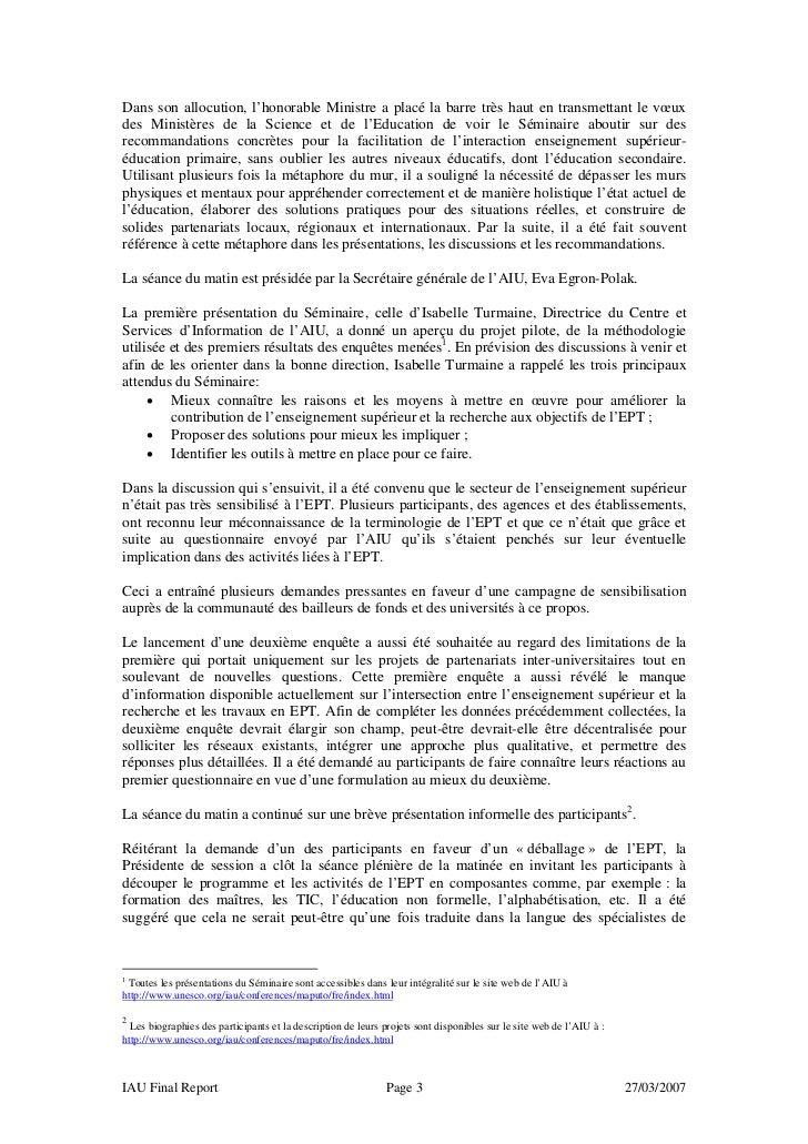 Maputo report fr Slide 3