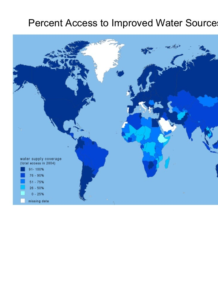 Percent Access to Improved Water Sources (2004)