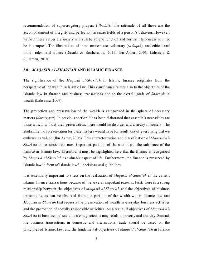 al maqasid al sharia This study examines the theoretical framework, develops axioms and a method to  gauge socio-economic development in line with maqasid al-sharaih.