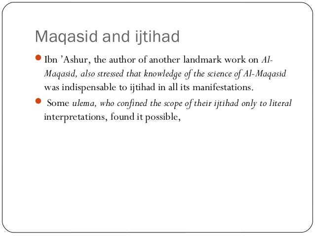the relation of maqasid al shariah Islamic vision of development in relation to maqasid al shari'ah maintaining that  development in the light of maqasid al shariah.