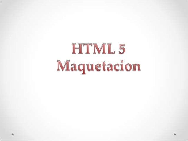 Maquetacion