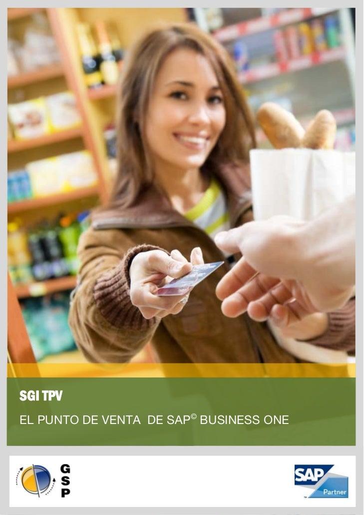 SGI TPVEL PUNTO DE VENTA DE SAP© BUSINESS ONE