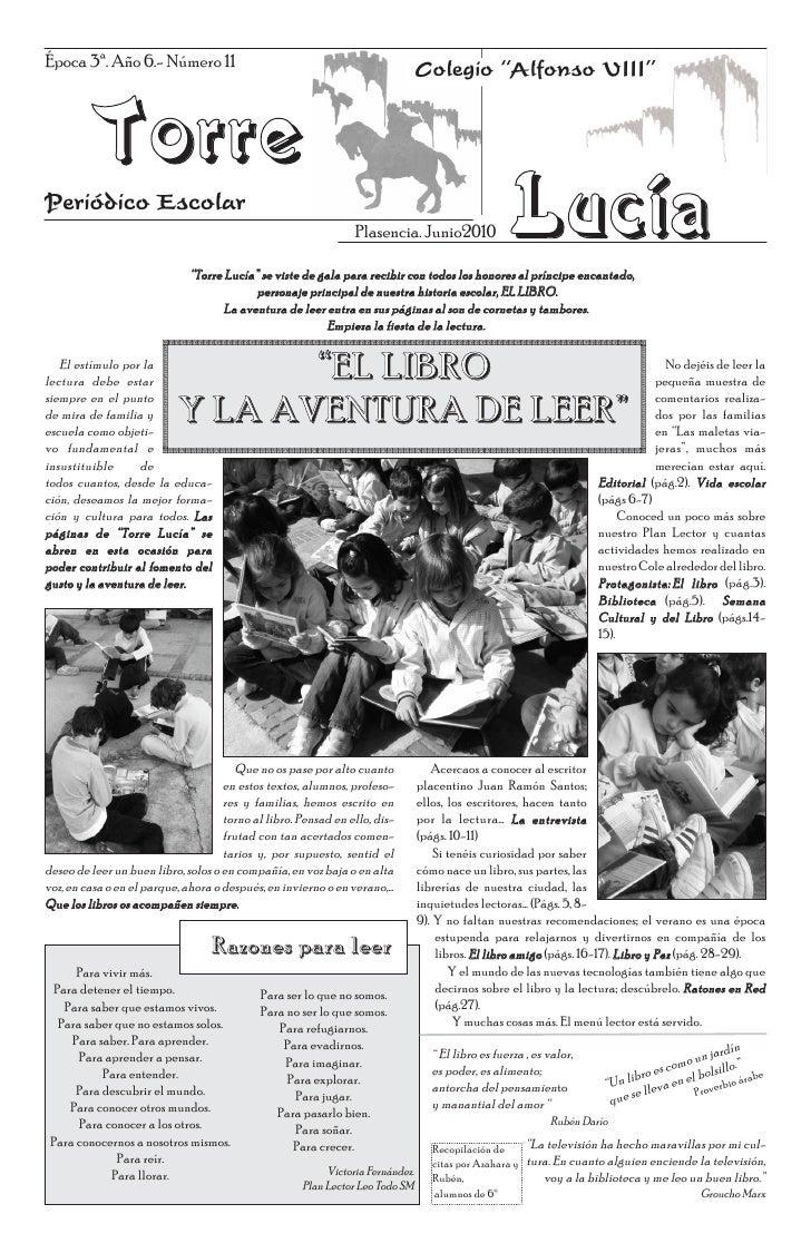 """Época 3ª. Año 6.- Número 11                                                     Colegio """"Alfonso VIII""""         TorrePeriód..."""