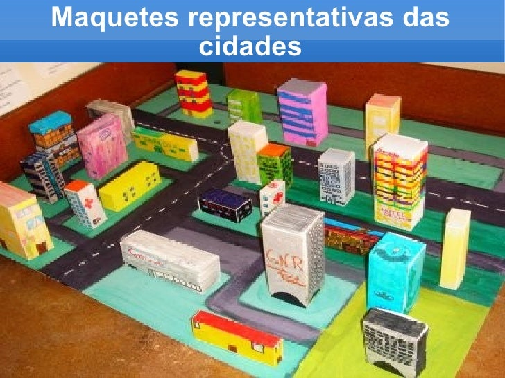 Maquetes representativas das cidades