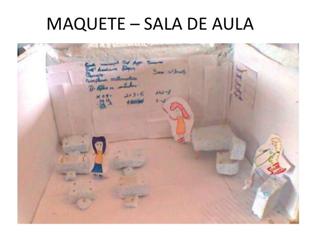 MAQUETE – SALA DE AULA