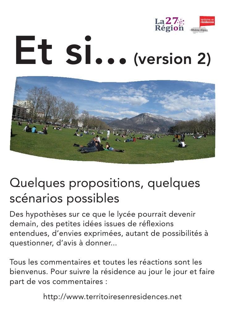 Et si...                                                       Rhône Alpes                                         (versio...