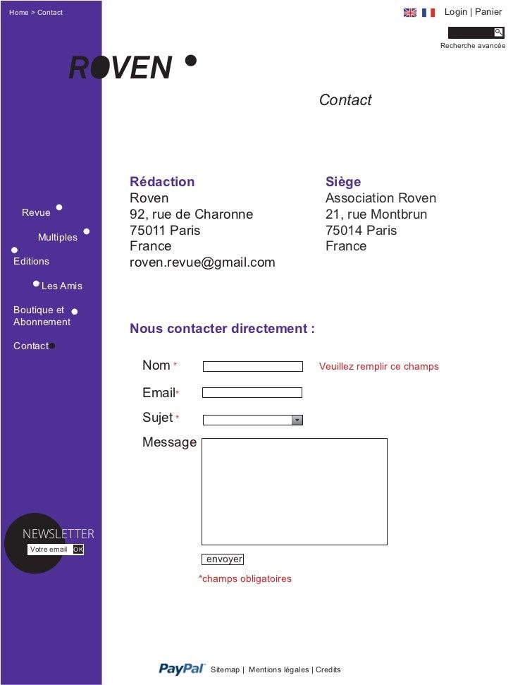 Home > Contact                                                                                 Login | Panier             ...