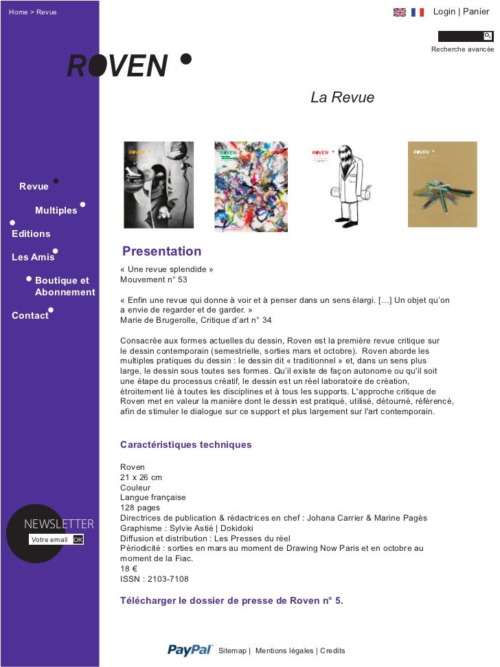 Home > Revue                                                                                                Login | Panier...